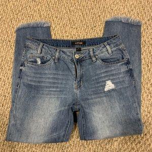 Refuge cropped ripped boyfriend girlfriend jeans